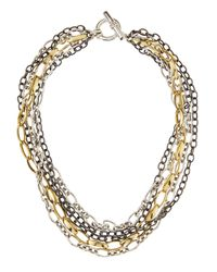 Slane | Multicolor Trilogy Mixed Chain Necklace | Lyst