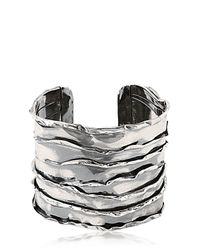 Emanuele Bicocchi | Metallic Sterling Silver Cuff Bracelet for Men | Lyst