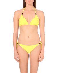 Heidi Klein | Yellow Formentera Triangle Bikini Top, Women's, Size: Xs, Yel-formentera | Lyst