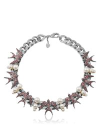 Schield | Black Swallow Necklace | Lyst