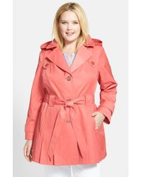 Via Spiga | Pink 'scarpa' Single Breasted Trench Coat | Lyst