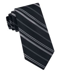 MICHAEL Michael Kors | Black Vitality Striped Silk Tie for Men | Lyst