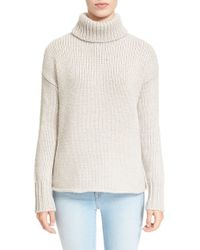 Joie | Natural 'irissa' Chunky Knit Turtleneck Sweater | Lyst