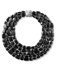John Hardy | Black Five-Row Necklace | Lyst