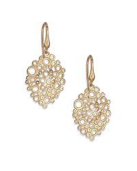 Saks Fifth Avenue | Metallic 14k Gold Oval Coral Drop Earrings | Lyst
