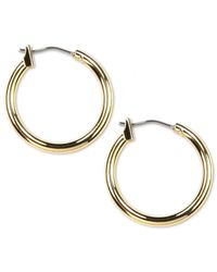 Anne Klein | Metallic Gold-tone Hoop Earrings | Lyst