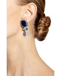 Dana Rebecca - Blue Sapphire and Diamond Earrings in White Gold - Lyst
