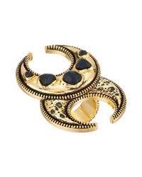 Obey - Metallic Zebu Ring - Lyst