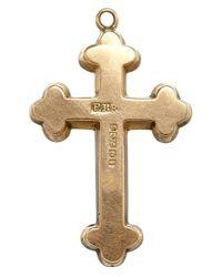 Annina Vogel - Metallic Vintage Gold Engraved Cross Charm - Lyst