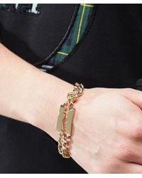 McQ Alexander McQueen - Metallic Chunky Chain Razor Bracelet - Lyst