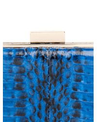 Anya Hindmarch - Blue Mini Marano Snakeskin Card Case - Lyst