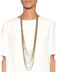 Diane von Furstenberg | Metallic Hematite Multi-Strand Fine-chain Necklace | Lyst