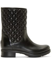 Moncler - Black Quilted Piccadilly Ankle Boots - Lyst