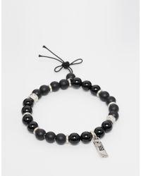 Icon Brand | Beaded Bracelet In Black for Men | Lyst