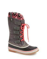 Sorel - Black Joan Of Arctic - Knit II Snow Boots - Lyst