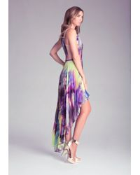 Bebe - Multicolor Pleated Hilo Dress - Lyst