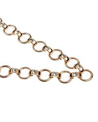 River Island - Metallic Gold Tone Chunky Embellished Chain Necklace - Lyst