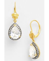 Freida Rothman | Metallic 'femme' Teardrop Earrings | Lyst