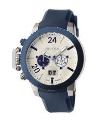 Brera Orologi - Blue 'militare Ii' Round Chronograph Watch for Men - Lyst