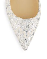Ivanka Trump - White Metallic Lace Pumps - Lyst