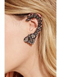 Forever 21 - Metallic Faceted Faux Gem Earcuff - Lyst