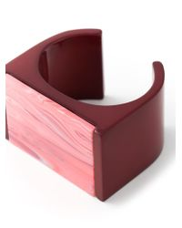 Stella McCartney - Red 'mixed Stones Plexi' Cuff - Lyst