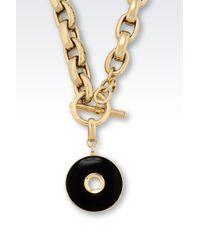 Emporio Armani | Black Necklace | Lyst