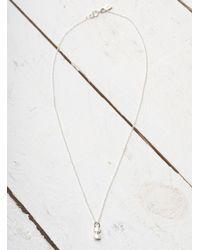 Lily Kamper - Metallic Hexagon Mini Block Pendant In Silver - Lyst