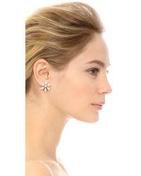 kate spade new york - Eyelet Garden Stud Earrings - White Multi - Lyst