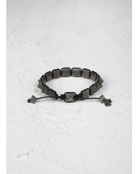 John Varvatos | Black Brass Pyramid Bracelet for Men | Lyst