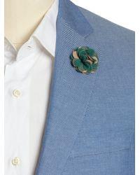 Hook + Albert | Green Camo Lapel Flower Pin | Lyst