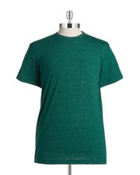 Brooks Brothers Red Fleece | Green Heathered Pocket Tee for Men | Lyst