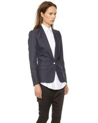 Acne Studios - Blue Single Button Suiting Blazer - Indigo - Lyst