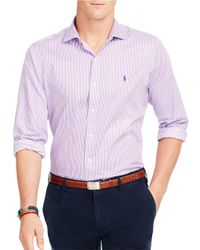 Polo Ralph Lauren | Purple Striped Twill Estate Shirt for Men | Lyst