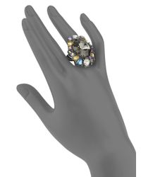 Saks Fifth Avenue | Multicolor Cluster Ring | Lyst