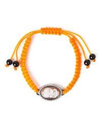 Amedeo | Yellow Snake Skull Cameo Bracelet | Lyst