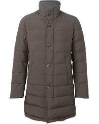 Herno - Gray Padded Jacket - Lyst