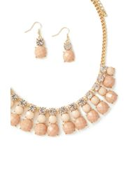 Forever 21 - Metallic Faux Gem Necklace And Earring Set - Lyst