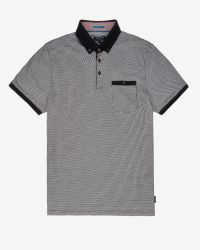 Ted Baker | Black Printed Polo Shirt for Men | Lyst