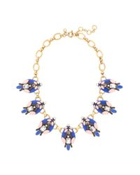 J.Crew | Blue Brilliant Stones Necklace | Lyst