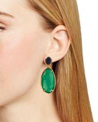 Ralph Lauren | Green Lauren Double Drop Earrings | Lyst