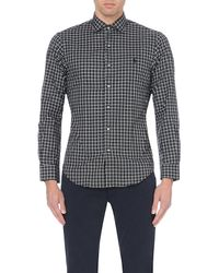 Ralph Lauren | Black Slim-fit Check Cotton Shirt for Men | Lyst