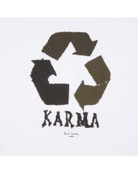 Paul Smith | White Karma-Print T-shirt for Men | Lyst