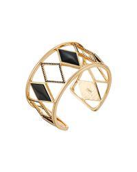 Rebecca Minkoff | Black Diamond Cutout Cuff Bracelet | Lyst