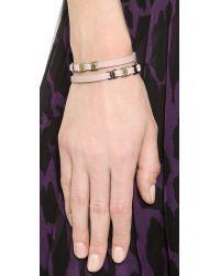 Ferragamo | Natural Varini Bracelet - Menthe/Oro | Lyst