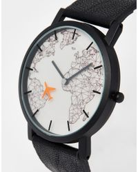 ASOS | Watch With Moving Aeroplane Second Hand In Black for Men | Lyst