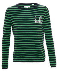 Chinti & Parker - Green Striped Cashmere Hello Jumper - Lyst