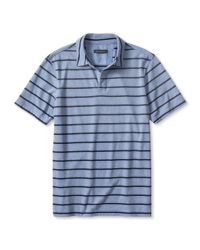 Banana Republic | Blue Micro-stripe Jersey Polo for Men | Lyst
