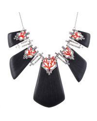 Alexis Bittar | Black Coral Deco Crystal Baguette Bib Necklace | Lyst