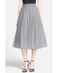 Bailey 44 | Gray 'shadow Waltz' Skirt | Lyst